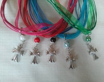 10 Cross Necklace Party Favors. First Communion Favor