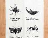 Traditional Household Pests Tea Towel