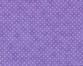 Lavender and White Small Polka Dot Patterned Fabric - Essential Dots by Moda 1/2 Yard