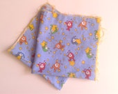 Two Squares of Vintage Rainbow Brite Sprite Fabric