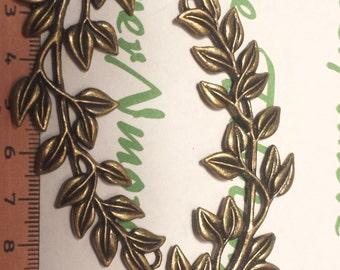 2 pcs per pack 82x26mm Vine Festoon link Necklace Antique Bronze Finish Lead free Pewter