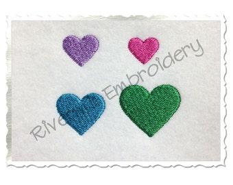 Mini Heart Machine Embroidery Design - 4 Sizes