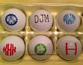 Monogrammed/Personalized Golf Balls set of 12