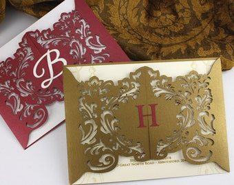 "Small laser cut gatefold - ""Mini-Opulence"""