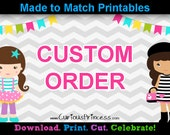 CUSTOM ORDER printable digital files water bottle labels