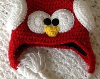 Fleece lined Sparkly Penguin Hat, Child Animal Hat, Penguin Hat, Crochet Baby Hat, Winter Hat, Baby Hat, Newborn Hat, Child Hat