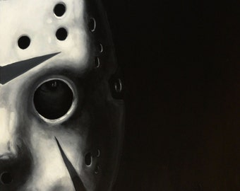 """JASON VOORHEES - Friday the 13th - Art Print Reproduction 10"""" x 12"""""""