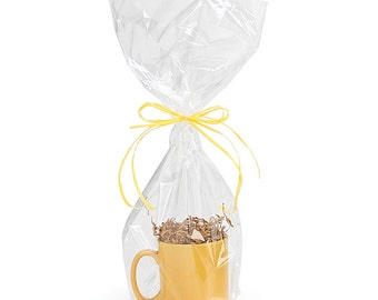 """Size 9""""x20"""" Crystal Clear Drop-in Gift Basket Bags (You Choose Qty!) FREE SHIPPING!"""