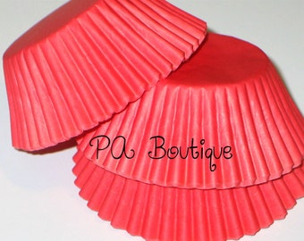 75ct. Solid RED Standard Cupcake Liners Baking Cups