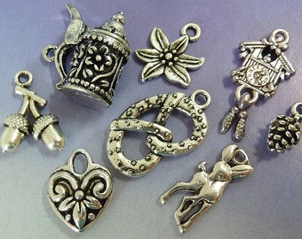 8 pendants, charms, Bavarian Octoberfest, Oktoberfest