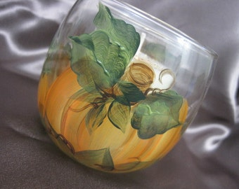 Pumpkin Patch handpainted pumpkin Pie Scented Soy candle home Decor