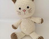 Crochet kitty cat amigurumi cat