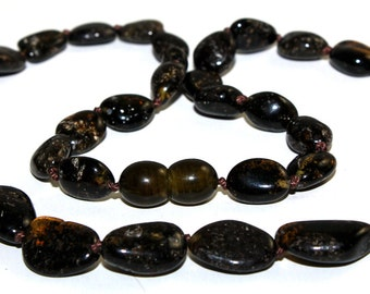 Baltic Amber Necklace Dark/ Green