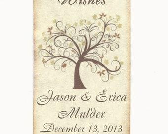 50 CUSTOM X-Large Personalized Wedding Wish Tags - Wedding Favors-Elegant Wedding Tags