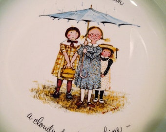 Holly Hobbie Friendship Collector plate from the 70s