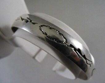 Vintage Southwest Sterling Cuff Bracelet  Lot 3475