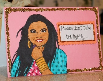 "Sparkling ""Mindy Project"" Greeting Card"