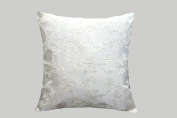 Decorative Pillow Cases White : Decorative Pillow case Home Decor Off White color fabric