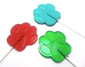 12 LARGE DOG PAW lollipops - Pick Any Color and Flavor