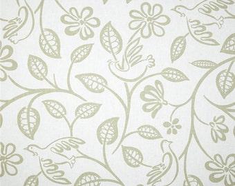Two 20 x 20 Custom Designer Decorative Pillow Covers  -  Birds - Taupe/Khaki