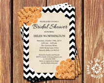 Halloween Bridal Shower Invitations