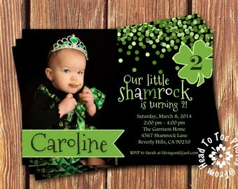 Saint Patrick's Day Birthday Invitations