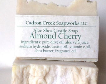 Almond Cherry Aloe Shea Castile Soap