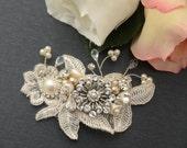 Vintage inspired swarovski crystal art deco crystal rhinestone bridal hair comb wedding hair accessories bridal headpiece