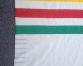 Large Hudson Bay Wool Blanket. Six Point Queen Size. Excellent condition. 8 Feet