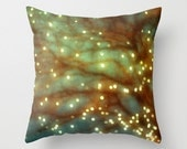CLEARANCE SALE Pillow Case decorative throw pillow Winter Christmas Lights  Photo Pillow Cover. yellow, red orange, blue