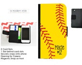 iPhone 5 Softball Wallet Case - Personalized iPhone 4 Wallet Case - iPhone 5 Wallet Case - iPhone 5s Wallet Case - iPhone 4s Wallet Case