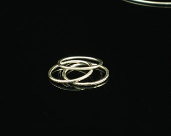 Argentium Sterling Silver Narrow Stacking Rings Set of 3