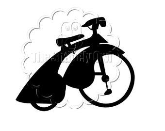 Vintage Bicycle Die Cut for Scrapbooking or Cardmaking