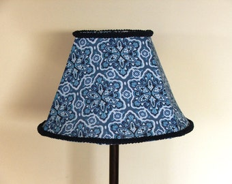 Blue Snowflakes in  A desk / Table Lamp- For  blues lover.