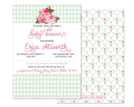Tickled Pink Baby Shower Invitations was luxury invitations layout