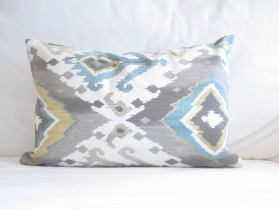 ikat lumbar pillow cover ikat chair pillow 12x16 in decorative pillow