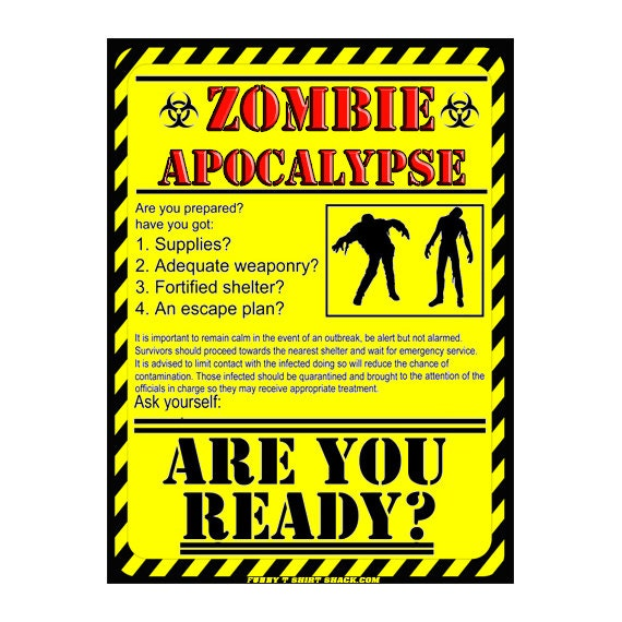 Zombie Apocalypse Warning Signs Images