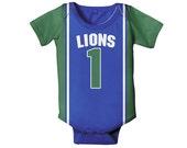 Personalized Basketball Jersey Bodysuit, Baby Boy Jersey, Custom One Piece, Onepiece, Any Team Clothing
