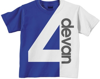 Personalized Number Shirt, Childrens T-Shirt, Boy or Girl 1st 2nd 3rd 4th 5th 6th 7th 8th 9th Birthday