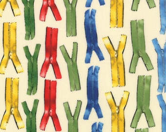 Ducks in a Row Fabric by American Jane for Moda Fabrics - Zippers Fabric Number 21653-11 - 1 Yard