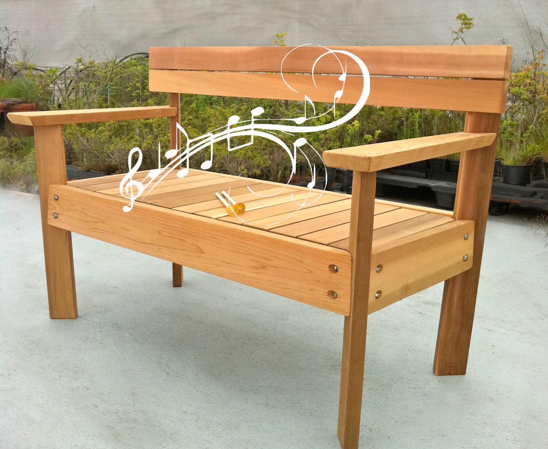Musical Garden Bench Marimba Cedar Bench Musical Garden