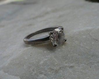 Vintage Silver Crystal Ring