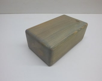 Yoga Block / Blue / Throat Chakra / Solid Wood / Reclaimed Lumber