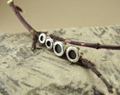2 Pairs of Sterling Silver Circular Studs (5mm and 7mm)