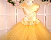 Sunny days yellow lace and satin dress for weddings,pageant,birthday,flower girl dress,junior bridesmaid dress