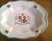 Queen Elizabeth II Commemorative Cookie Plate Silver Jubilee