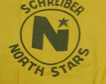 Vintage 80s Schreiber North Stars Junior Hockey League T-Shirt