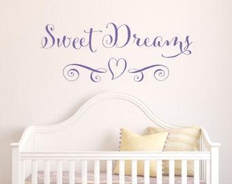 Nursery Wall Decal - Sweet Dreams Wall Decal - Wall Decal Nursery - Baby Wall Decal