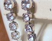 Eisenberg dangle rhinestone clip earrings