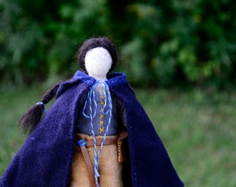 Needlefelted Waldorf Doll. Wanderer Series 001. Handmade Penny Doll by alyparrott on Etsy.